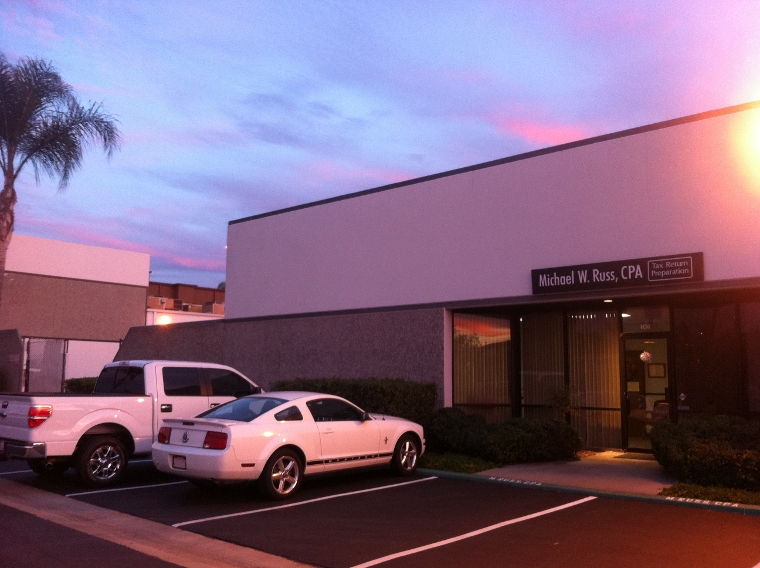 beautiful San Marcos evening view of the office